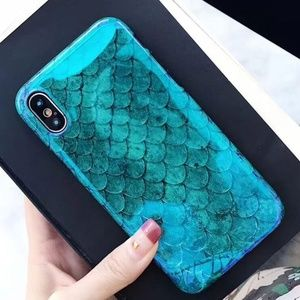 GoByte Accessories - iPhone Max/XR/XS/X/78/Plus Glossy Fish Scale Case